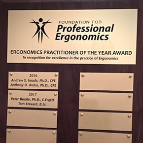 Ergonomics Practitioner of the Year Award